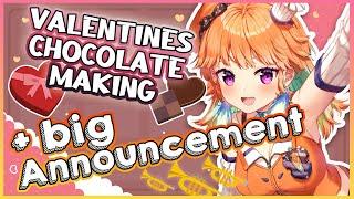 【Big Announcement+】making CHOCOLATE for Valentines Day! 重大告知ありチョコレート作り #kfp #キアライブ