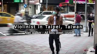 타이페이 한복판, 36도 폭염 속 길거리 신 들린 연주