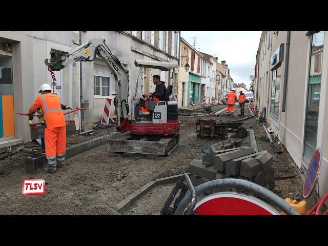 Luçon : la rue Victor Hugo en travaux