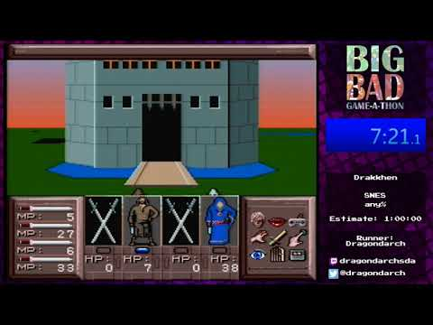 Big Bad Game-a-thon 2017 - Drakkhen by Dragondarch