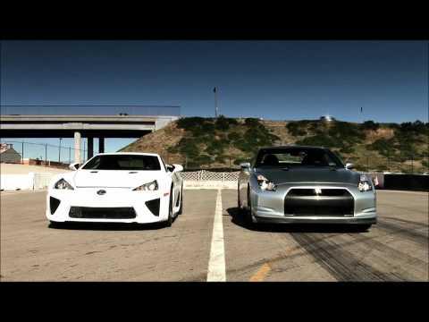 Nissan GT-R 2010 đua với Lexus LFA 2012 - Siêu Xe