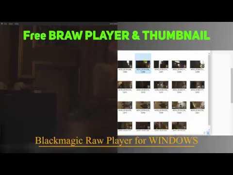 Blackmagic Raw ( Braw ) free player & thumbnail - WINDOWS