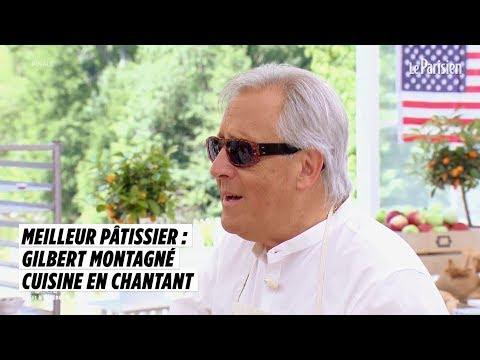 Gilbert Montagné, finaliste du « Meilleur pâtissier : Célébrités », cuisine en chantant