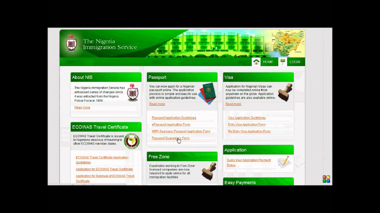 Nigerian embassy e passport application guarantors form youtube altavistaventures Gallery