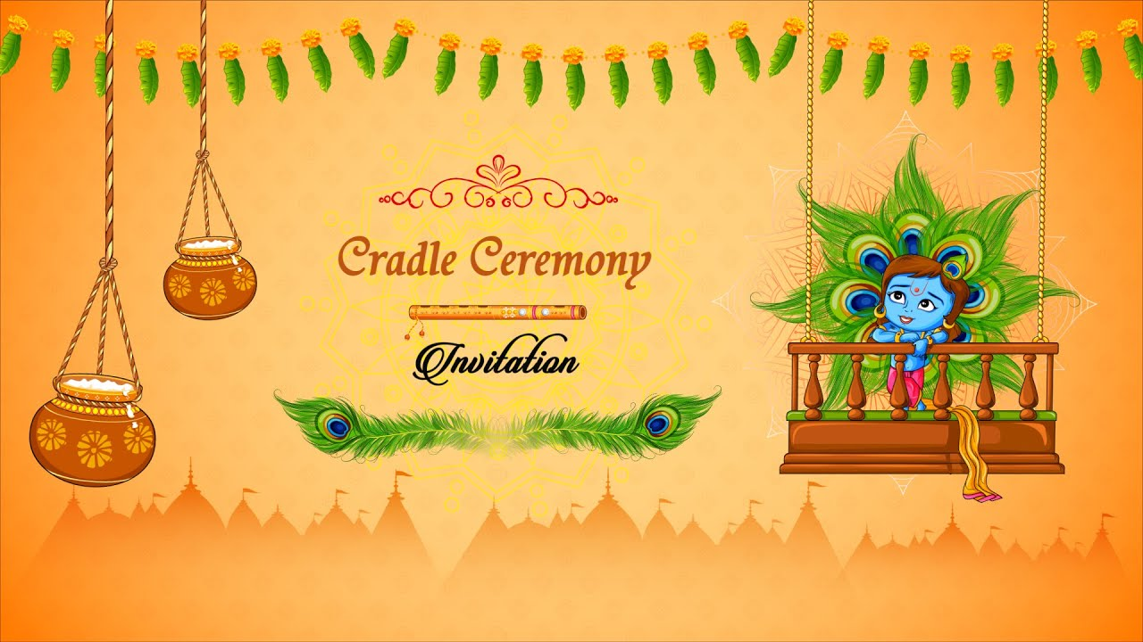 best cradle ceremony video invitation 2020 video invitation maker by inviter com
