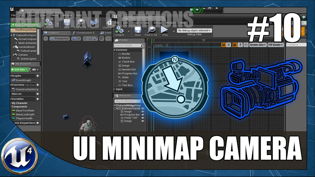 Creating A UI Minimap - #10 Unreal Engine 4 Blueprint Creations Tutorial