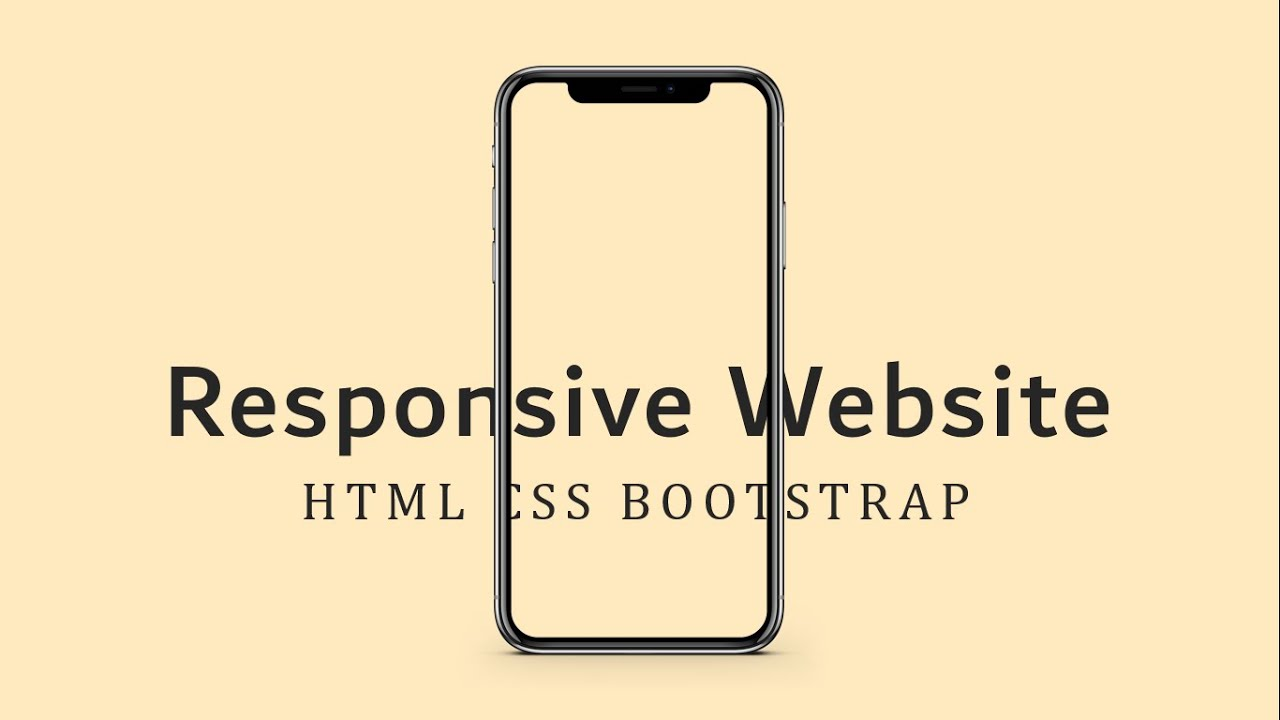 Responsive Website With HTML CSS Bootstrap