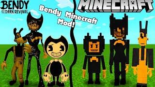 Bendy and the Ink Machine in MINECRAFT! (BATIM Minecraft   Mod Showcase)