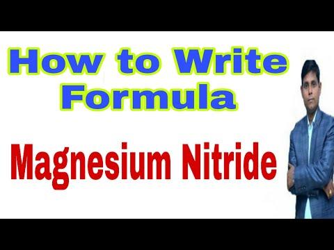 Molecular Formula Of Magnesium Nitride | Chemical Formula Of Magnesium Nitride