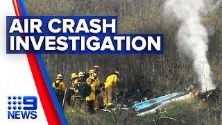 Investigation underway for helicopter crash that killed Kobe Bryant | Nine News Australia