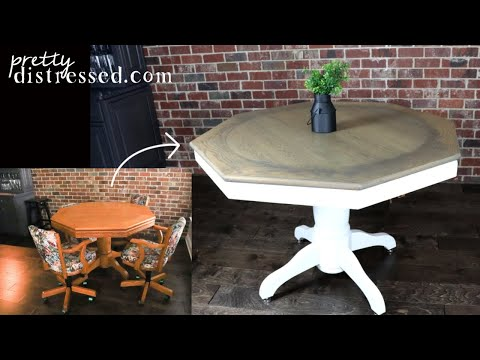 Table Makeover | Using General Finishes Water Based Stain