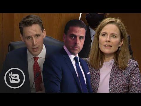Sen. Hawley Flips Dem Question On Its Head and TORCHES Hunter Biden