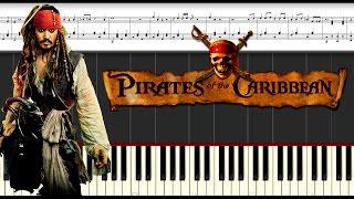 Ноты для фортепиано. Pirates Of The Caribbean