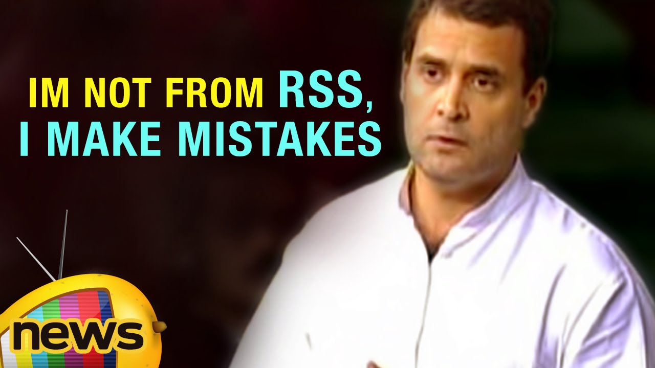 Rahul Gandhi Funny Verbal Mistakes In Lok Sabha Im Not From Rss I Make Mistakes Mango News