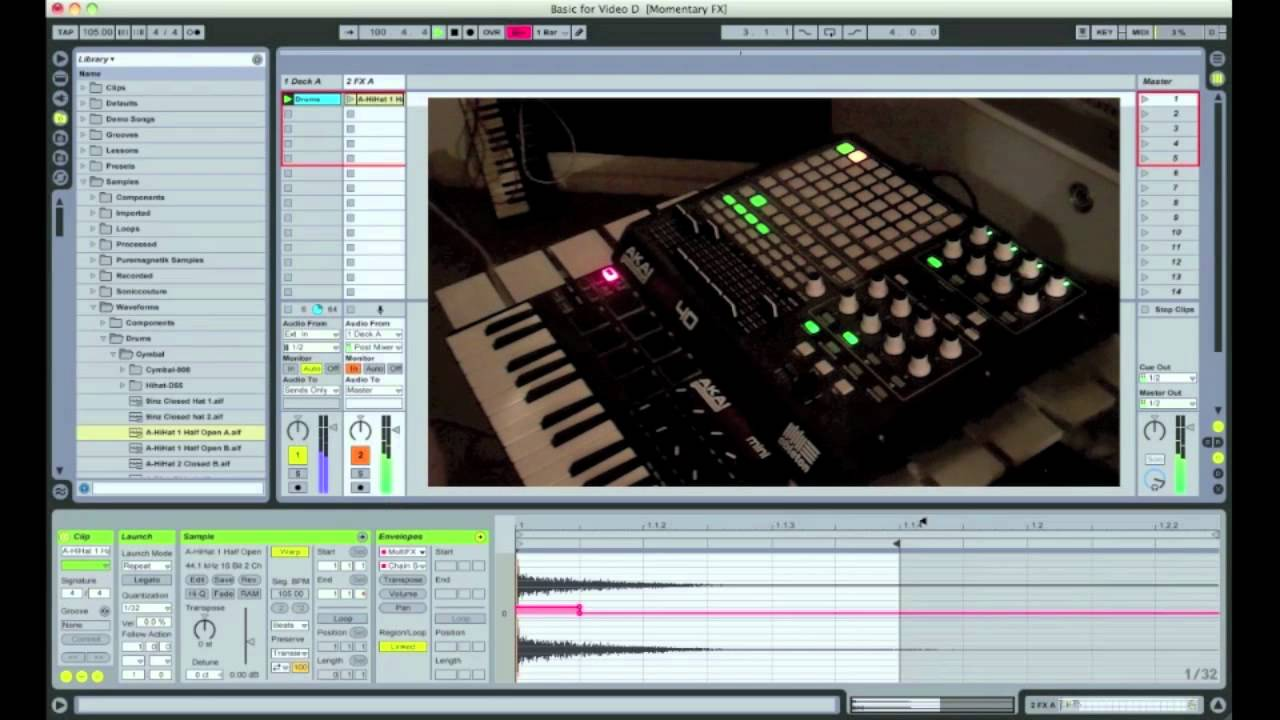 Dubstep Momentary Effects in Ableton Live