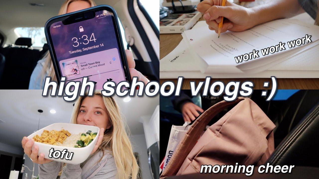 Download SCHOOL VLOG // classes, covid test, cheer, homework & more