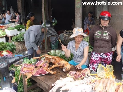 Dong Xoai fresh market Binh phuoc vietnam