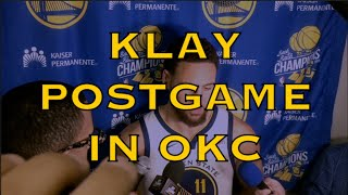 Entire KLAY postgame from OKC: best defensive game so far, defending Russell Westbrook