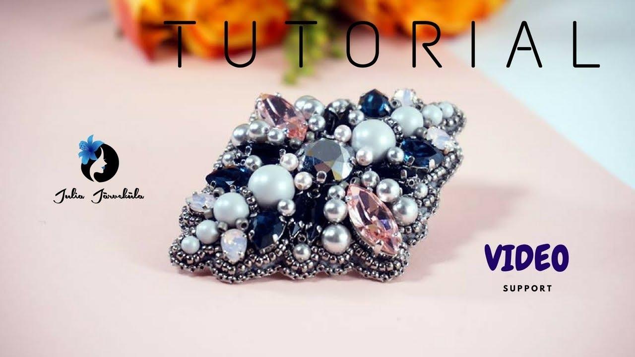 Video Tutorial DIY | Tutorial Brooch | Jewelry Making | Brooch Swarovski |  Royal
