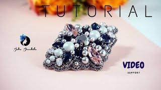 Video Tutorial DIY   Tutorial Brooch   Jewelry Making   Brooch Swarovski   Royal