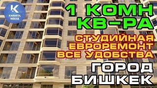 1 комн. квартира (студия, супер планировка + евроремонт) в г. Бишкек
