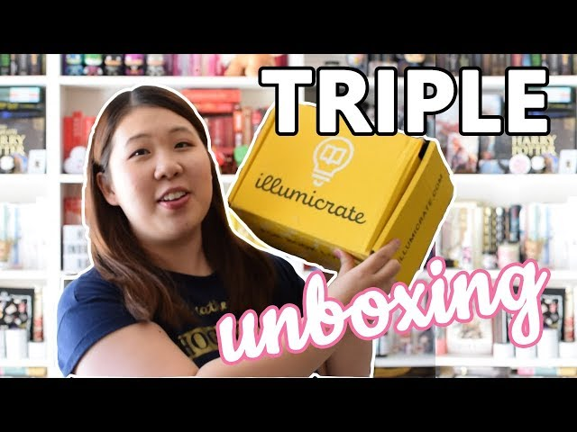 TRIPLE UNBOXING: Illumicrate, Faecrate & Spark and Sparrow | July 2019