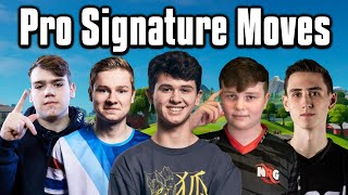 How To Do Every Pro's Signature Move! - Fortnite Battle Royale