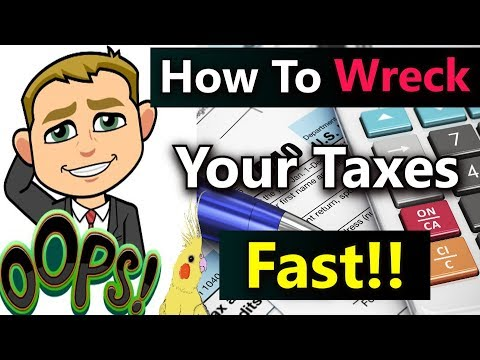 (8 Super Common Tax Mistakes That Can Wreck Your Taxes and Finances Fast!) Huge Common Tax Errors