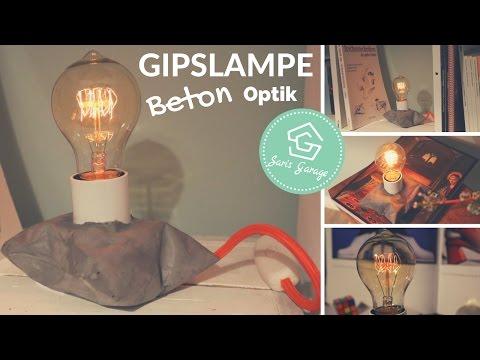 Retro Lampe In Betonoptik | DIY Lampe |  Lampe Selber Machen |  Gipslampe | Designer Lampe