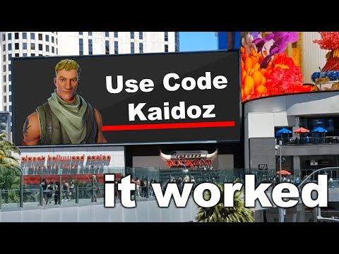 I Bought A Billboard And Put My Fortnite Creator Code On It...