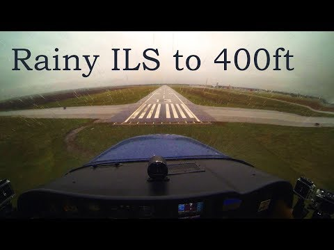Full IFR Flight - ILS to 400ft, Rain, Solid IMC