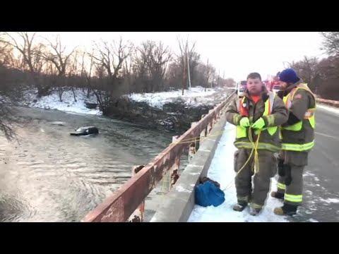 Man rescued after shouting, 'Siri, call 911,' after his car plunged into an icy river