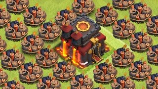 "Clash of Clans - ""MINE FIELD"" SO MANY GIANT BOMBS! Does It Work? Epic Troll Base!"