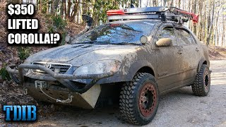 homepage tile video photo for Lifted Off-Road Toyota Corolla Review! The Most Fun Ever For $350!