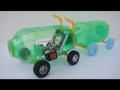 How to make powered car use bottle and dc motor simple for Simple motors for kids