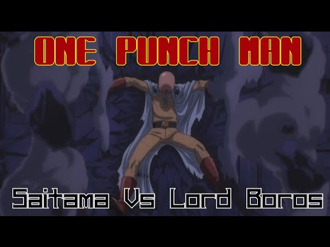 SAITAMA VS LORD BOROS (English FanDub)