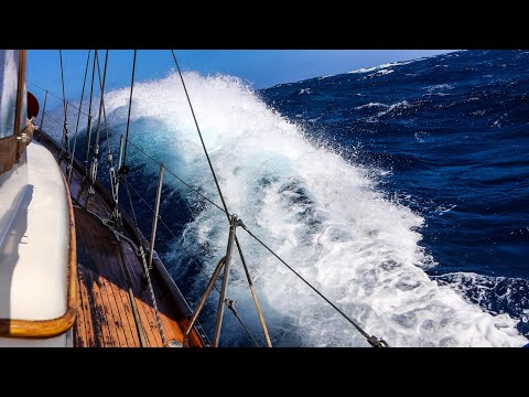Sailing in heavy weather & big waves 600 miles offshore (Pacific crossing pt. 4)
