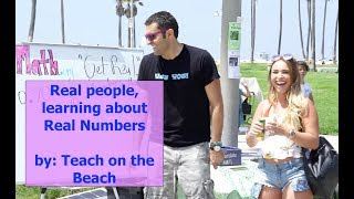 Real Numbers, a fun math lesson by Teach on the Beach