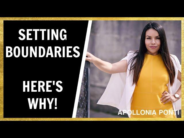 SETTING BOUNDARIES | Importance of Setting Boundaries (3 Ways)