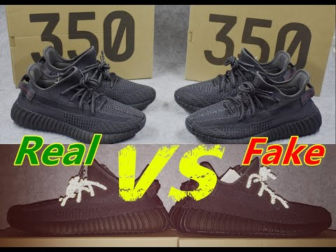 97d227b37fb REAL VS FAKE Yeezy Boost 350 V2 Static Black Non reflective - YouTube