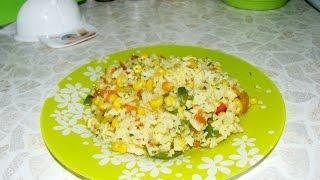 Очень вкусный рис с овощами//Постное блюдо