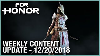 For Honor: Week 12/20/2018 | Weekly Content Update | Ubisoft [NA]