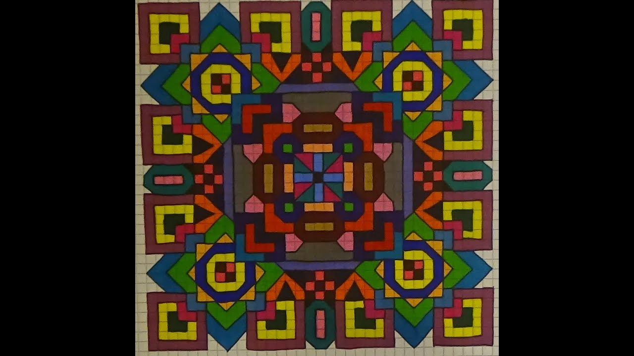 another mandala on graph paper