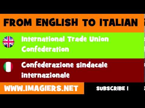 How to say International Trade Union Confederation in Italian