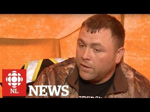 Hunger striking fisherman, Richard Gillett.