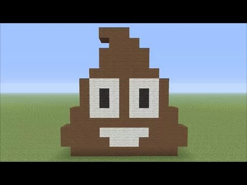 The Big Minecraft Build (#23) Small Poop Emoji Pixleart ...