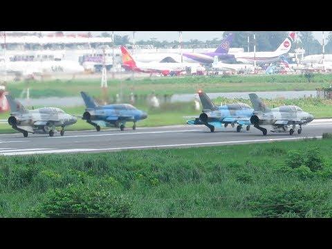 [HD] Plane Spotting @ Hazrat Shahjalal Int'l Airport, Dhaka: Episode-139 (4 BAF F-7 Fighter Jets)