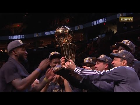 Larry O'Brien Trophy Presentation Ceremony - 2018 NBA Finals