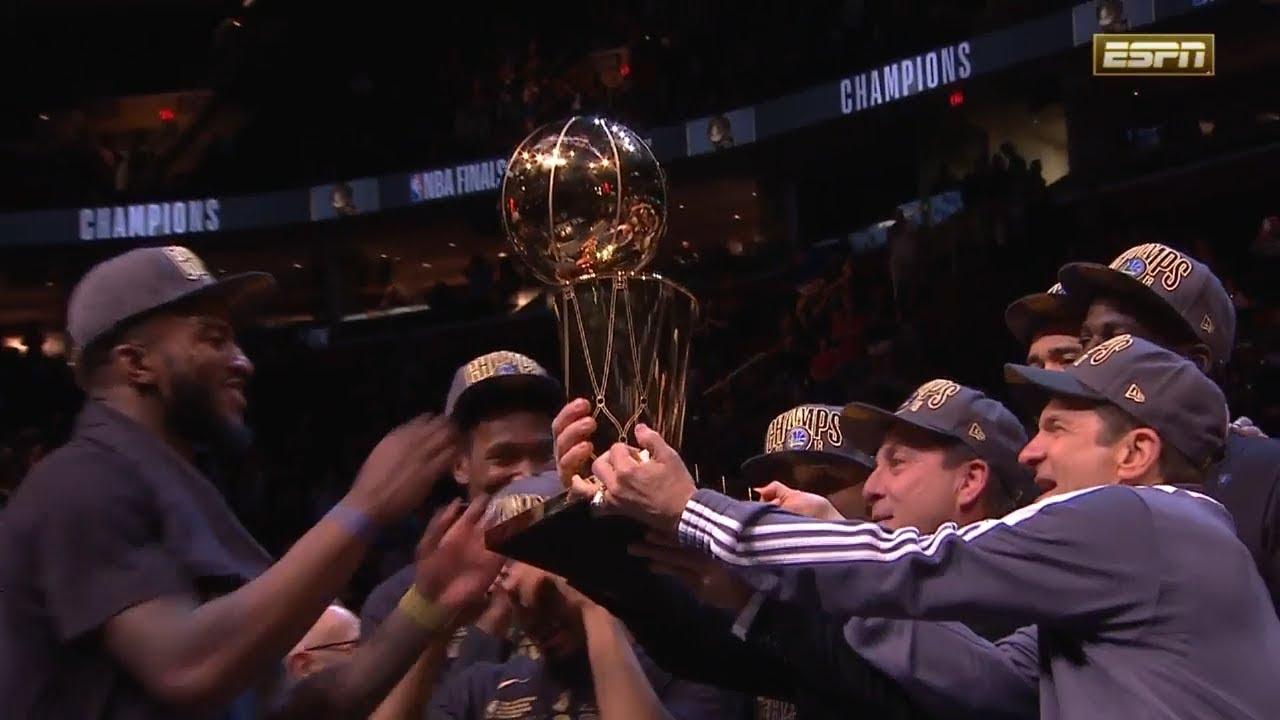 Larry O'Brien Trophy Presentation Ceremony - 2018 NBA ...
