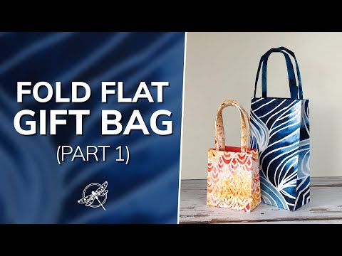 Quick and Easy Fold Flat Gift Bag Video Part 1